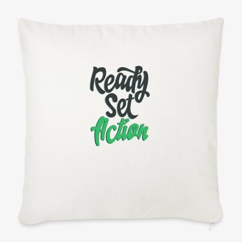 "Ready.Set.Action! - Throw Pillow Cover 18"" x 18"""