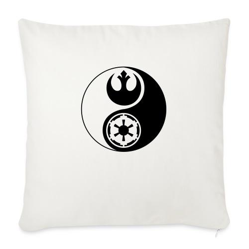 "Star Wars Yin Yang 1-Color Dark - Throw Pillow Cover 17.5"" x 17.5"""
