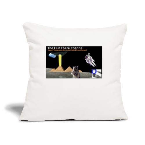 """UFO Pyramids v1 with Crew Back Logo - Throw Pillow Cover 17.5"""" x 17.5"""""""