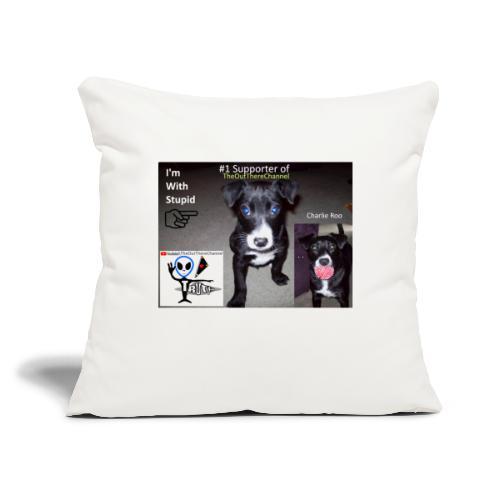 "OTchanCharlieRoo with Crew Back Logo - Throw Pillow Cover 17.5"" x 17.5"""
