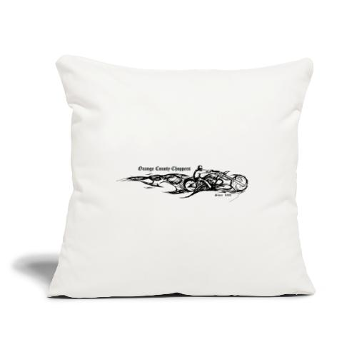 "Sketch Rider Front - Throw Pillow Cover 18"" x 18"""