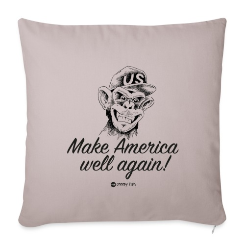 Make America well again - funny monkey design - Throw Pillow Cover