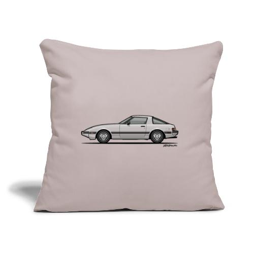 "Rotary RX-7 Savanna FB Si - Throw Pillow Cover 17.5"" x 17.5"""