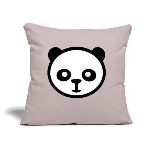 "Panda bear, Big panda, Giant panda, Bamboo bear - Throw Pillow Cover 17.5"" x 17.5"""