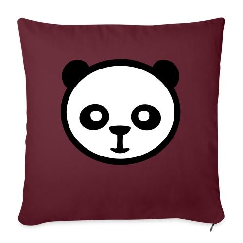 "Panda bear, Big panda, Giant panda, Bamboo bear - Throw Pillow Cover 18"" x 18"""