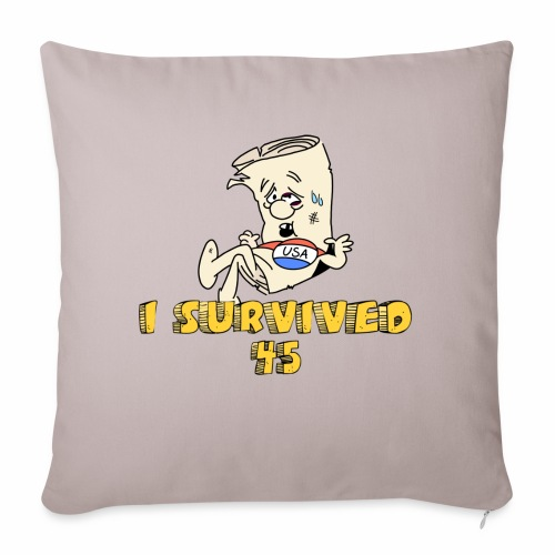 "I Survived 45 - Throw Pillow Cover 17.5"" x 17.5"""