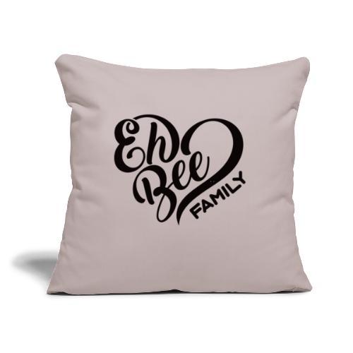 "EhBeeBlackLRG - Throw Pillow Cover 17.5"" x 17.5"""