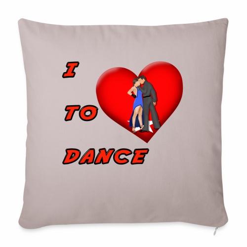 """I Heart Dance - Throw Pillow Cover 17.5"""" x 17.5"""""""