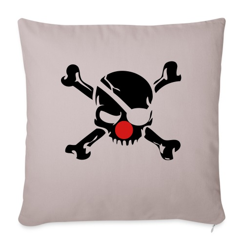 "Clown Jolly Roger Pirate - Throw Pillow Cover 17.5"" x 17.5"""