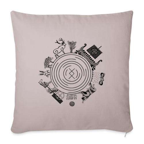 "Freyr - God of the World - Throw Pillow Cover 17.5"" x 17.5"""