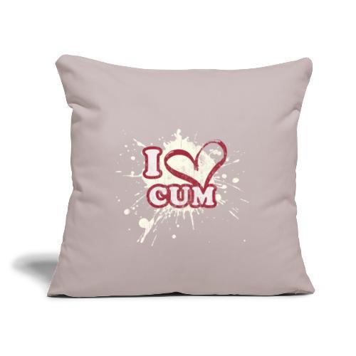 """I Heart Cum (Splatter) - Throw Pillow Cover 17.5"""" x 17.5"""""""