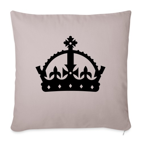 "King or Queen Crown - Throw Pillow Cover 17.5"" x 17.5"""