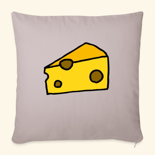 "Cheese - Throw Pillow Cover 17.5"" x 17.5"""