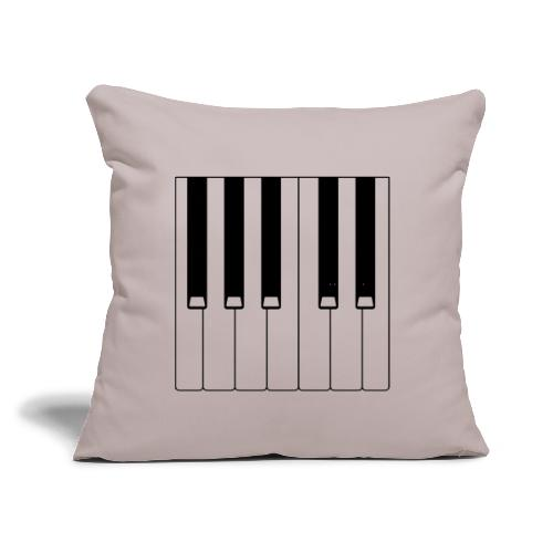 """Piano - Throw Pillow Cover 17.5"""" x 17.5"""""""