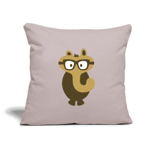 "Funny Elephant Monster Wearing Glasses - Throw Pillow Cover 17.5"" x 17.5"""