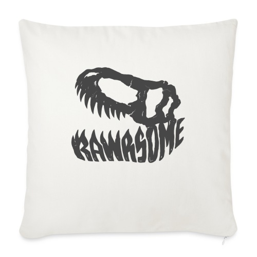 """RAWRsome T Rex Skull by Beanie Draws - Throw Pillow Cover 17.5"""" x 17.5"""""""