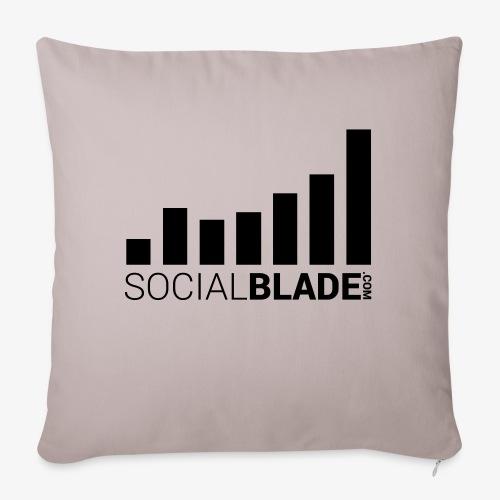 """Socialblade (Dark) - Throw Pillow Cover 17.5"""" x 17.5"""""""