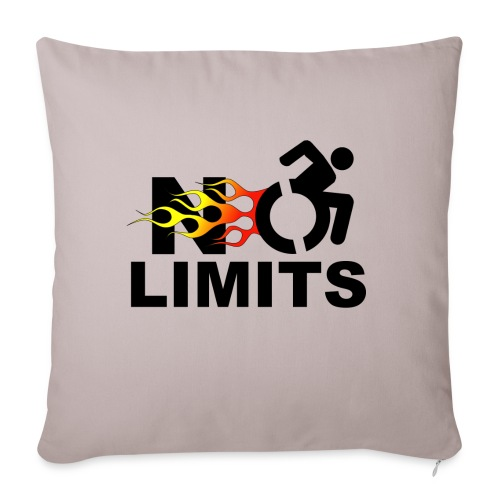"""No limits for me with my wheelchair - Throw Pillow Cover 17.5"""" x 17.5"""""""