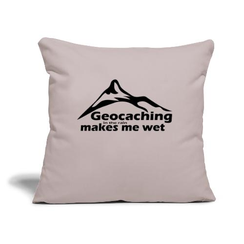 """Wet Geocaching - Throw Pillow Cover 17.5"""" x 17.5"""""""
