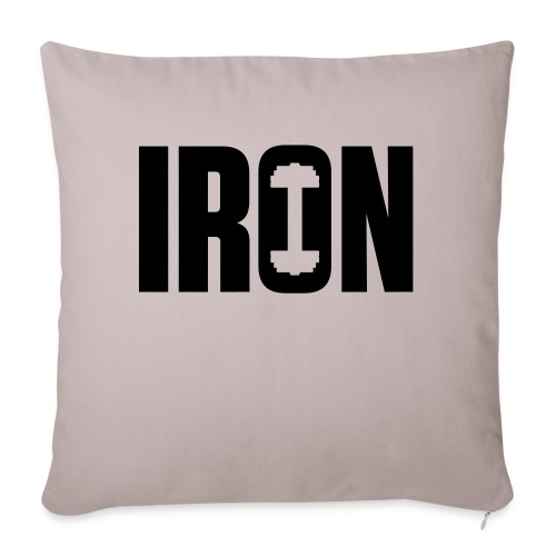 """IRON WEIGHTS - Throw Pillow Cover 17.5"""" x 17.5"""""""
