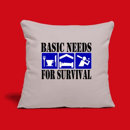 """Softball/Baseball Basic Needs - Throw Pillow Cover 17.5"""" x 17.5"""""""