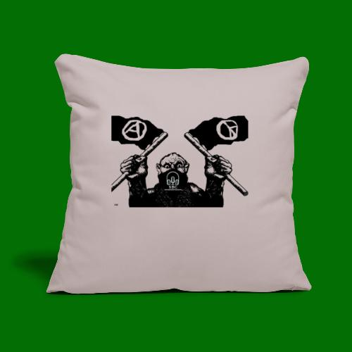 """anarchy and peace - Throw Pillow Cover 17.5"""" x 17.5"""""""