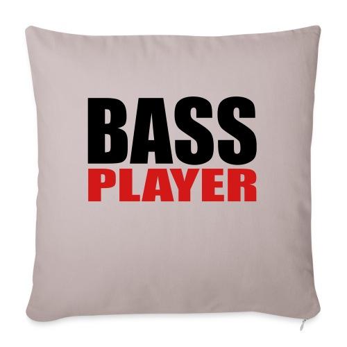 "Bass Player - Throw Pillow Cover 17.5"" x 17.5"""