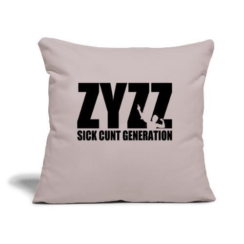 "Zyzz Sickkunt Generation - Throw Pillow Cover 17.5"" x 17.5"""