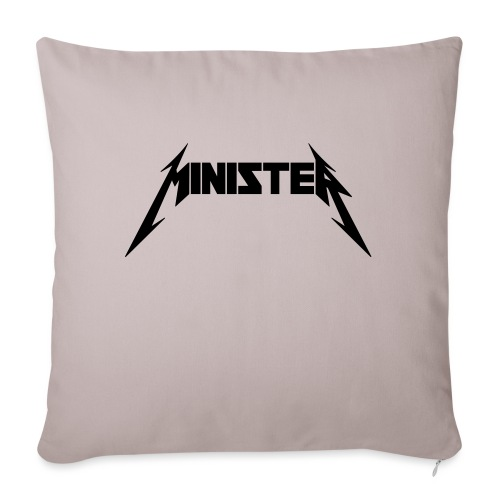 "Minister (Rock Band Style) - Throw Pillow Cover 17.5"" x 17.5"""