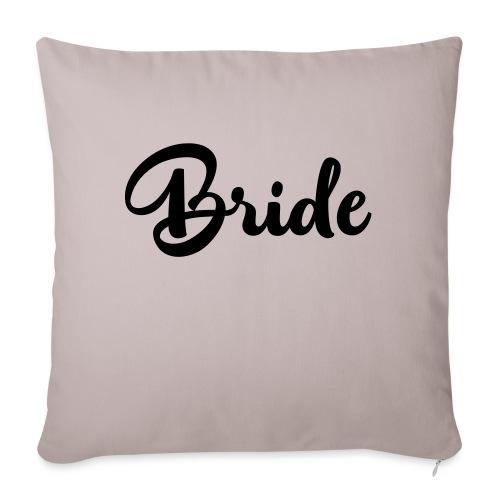 """bride - Throw Pillow Cover 17.5"""" x 17.5"""""""