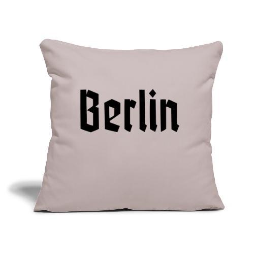 """BERLIN Fraktur Font - Throw Pillow Cover 17.5"""" x 17.5"""""""