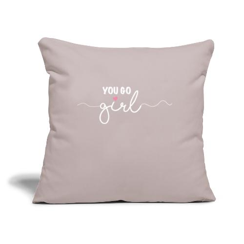 "Girl Power - Throw Pillow Cover 17.5"" x 17.5"""
