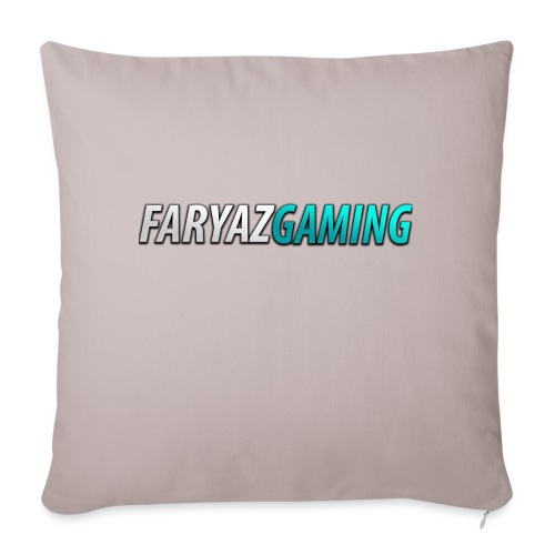 """FaryazGaming Theme Text - Throw Pillow Cover 17.5"""" x 17.5"""""""