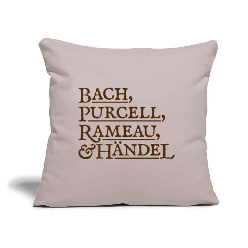 """Fab Four of Early Music - Throw Pillow Cover 17.5"""" x 17.5"""""""
