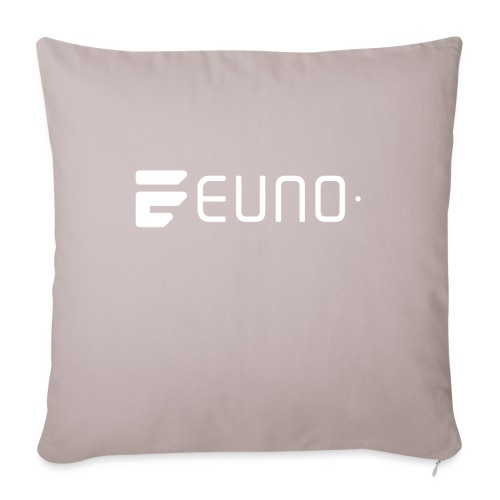 "EUNO LOGO LANDSCAPE WHITE - Throw Pillow Cover 17.5"" x 17.5"""