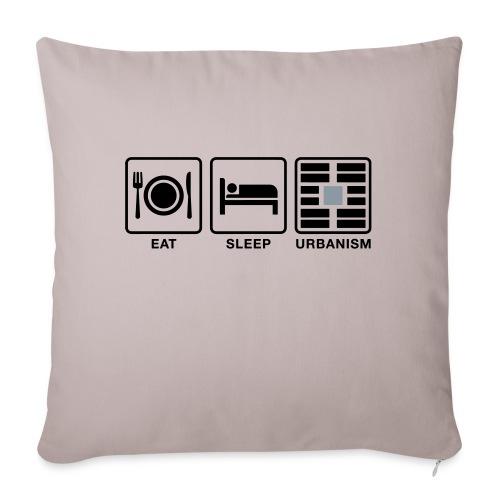 "Eat Sleep Urb big fork-LG - Throw Pillow Cover 17.5"" x 17.5"""