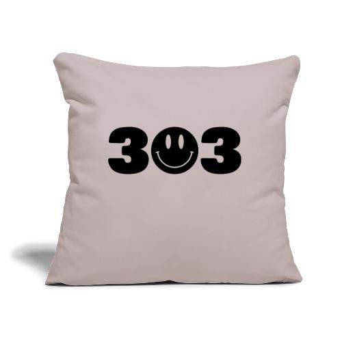 "3 Smiley 3 - Throw Pillow Cover 17.5"" x 17.5"""