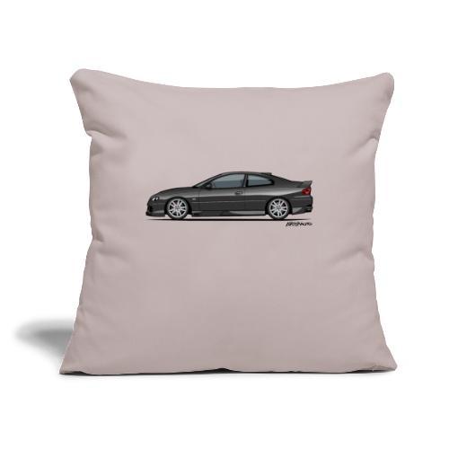 """Holden Monaro HSV GTO (V2) Black - Throw Pillow Cover 17.5"""" x 17.5"""""""