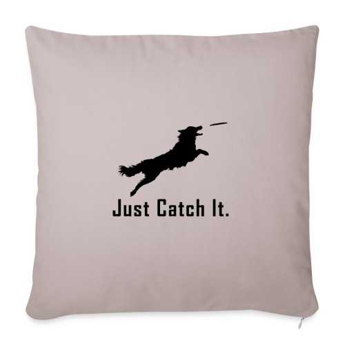 """Just Catch It (Black) - Throw Pillow Cover 17.5"""" x 17.5"""""""