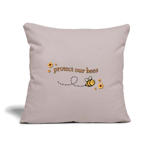 "save the bees - Throw Pillow Cover 17.5"" x 17.5"""