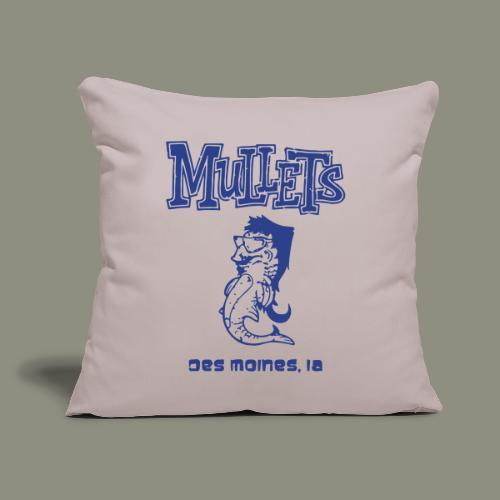 "Mullets Color Series - Throw Pillow Cover 18"" x 18"""