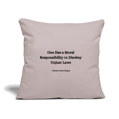 """MLK Quote - Throw Pillow Cover 17.5"""" x 17.5"""""""
