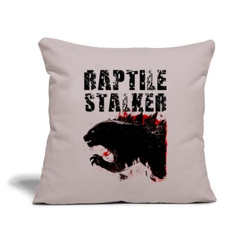 "Raptile Stalker - Throw Pillow Cover 17.5"" x 17.5"""