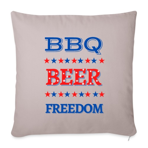 """BBQ BEER FREEDOM - Throw Pillow Cover 17.5"""" x 17.5"""""""