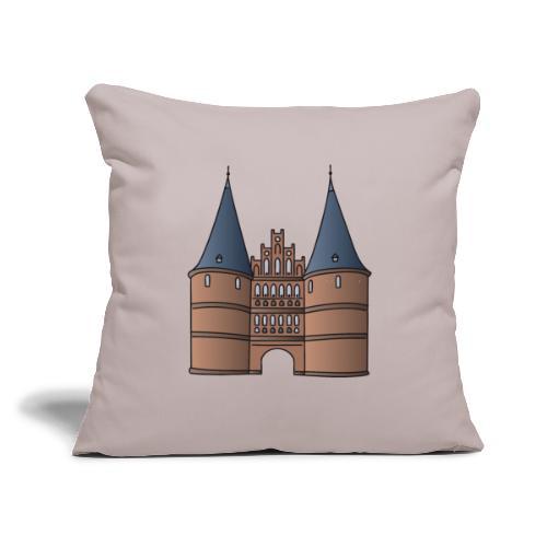 "Citygate, Holstentor Lübeck - Throw Pillow Cover 17.5"" x 17.5"""