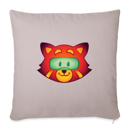 "Foxr Head (no logo) - Throw Pillow Cover 17.5"" x 17.5"""