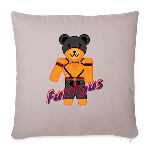 "Leather Furrrgus - Throw Pillow Cover 17.5"" x 17.5"""