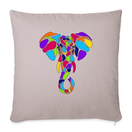 """Art Deco elephant - Throw Pillow Cover 17.5"""" x 17.5"""""""