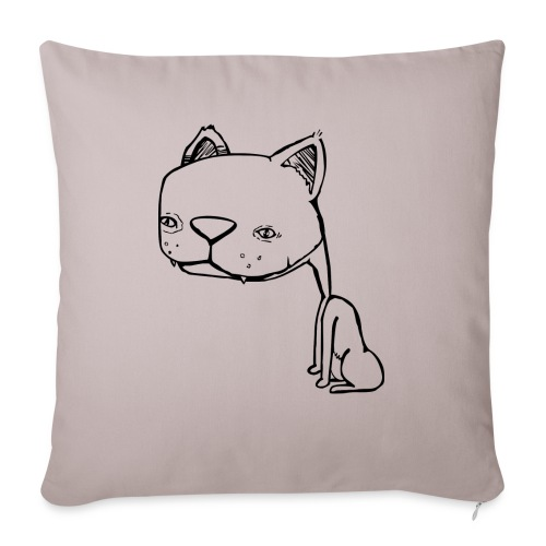 """Meowy Wowie - Throw Pillow Cover 17.5"""" x 17.5"""""""
