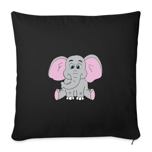 """Cute Baby Elephant - Throw Pillow Cover 18"""" x 18"""""""